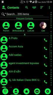 Theme for RocketDial and ExDialer Flat BGreen screenshot 3