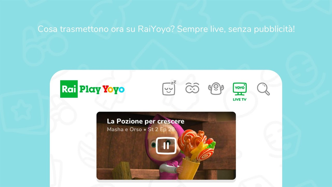 RaiPlay Yoyo screenshot 1