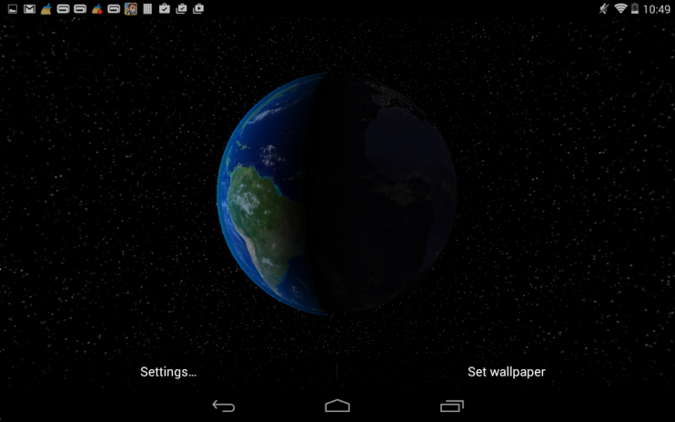Dynamic Earth Live Wallpaper Screenshot 8