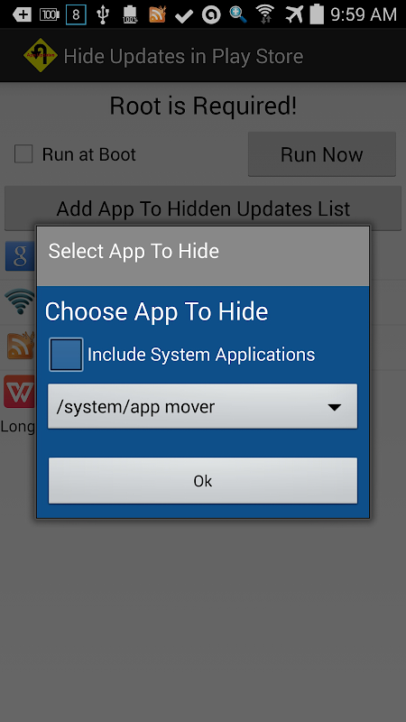 Hide Updates In Play Store screenshot 1