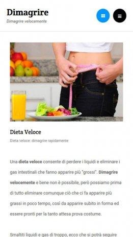 una dieta per perdere peso in poco tempo