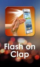 flashlight on clap screenshot 1