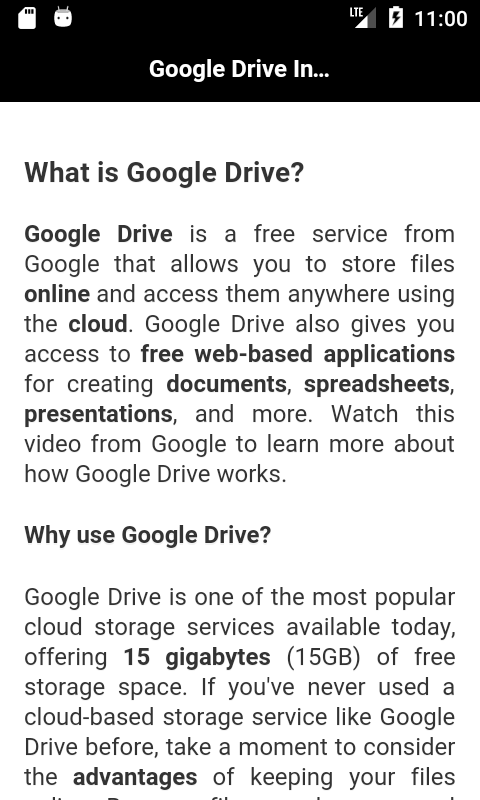 Learn Google Drive screenshot 1