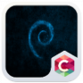 blue texture c launcher theme icon