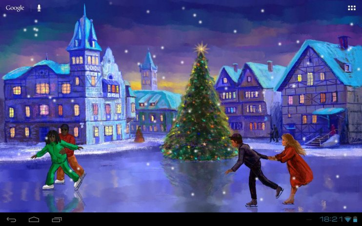 Christmas Rink Live Wallpaper Screenshot 1 2