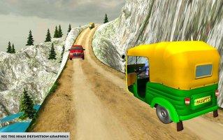 Grand Auto Off road Rickshaw Driving : Free Games Screen