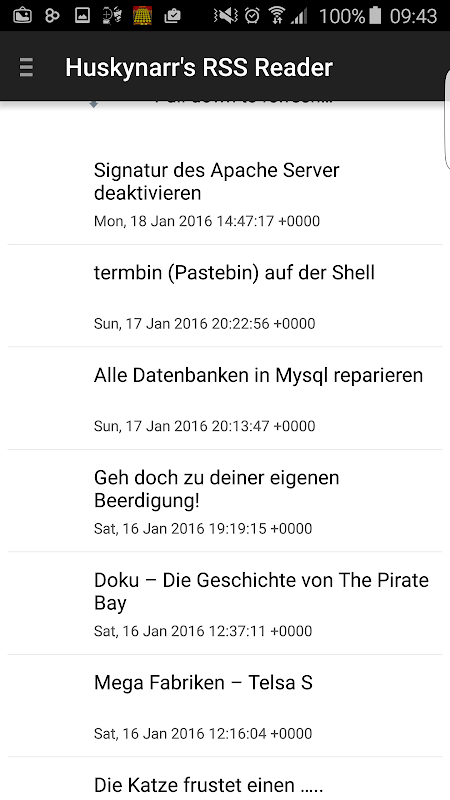 Huskynarr.de - Feed Reader screenshot 3