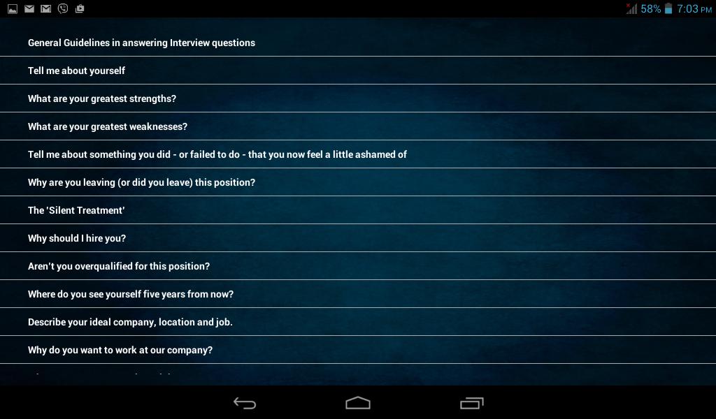 Complete HR Interview Guide Screenshot ...