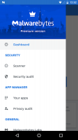 Malwarebytes Security: Virus Cleaner, Anti-Malware Screen