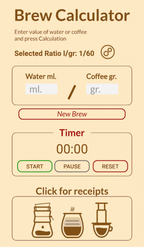 Coffee Brew Calculator 1 2 Download Android Apk Aptoide