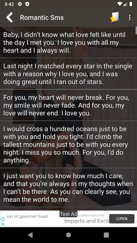 Hot Romantic Love Sms 1 4 Download Android Apk Aptoide
