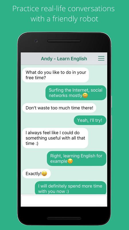 Andy English Bot Unlimited screenshot 1