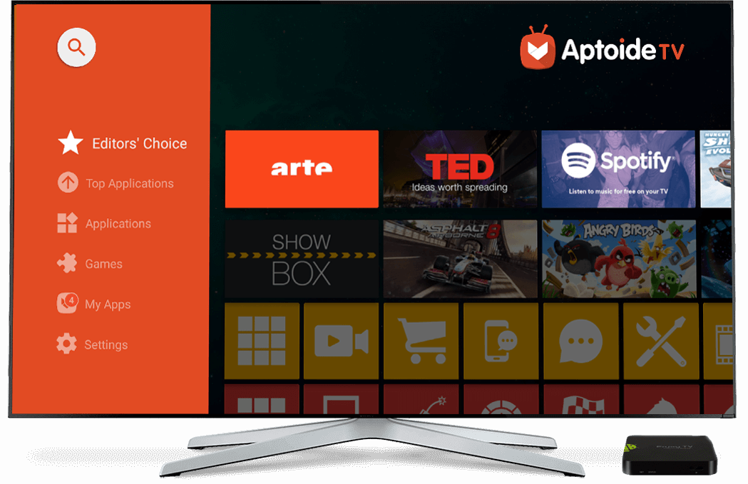 Try now Aptoide TV, the optimised app store for your Set Top Box and Smart TV